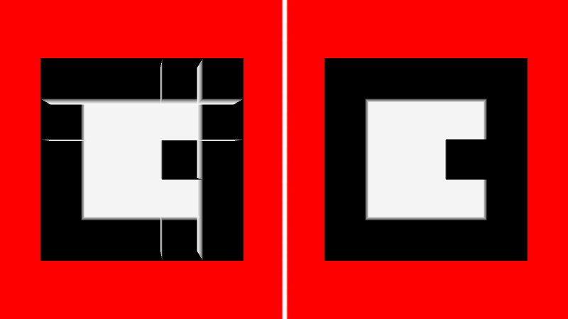 Before and after depth testing